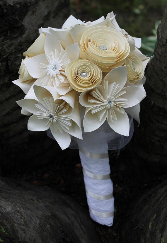 Bouquet Sposa Unico Fiore.Origami E Spirale Bouquet Bouquet Di Kusudama Bouquet Da Sposa