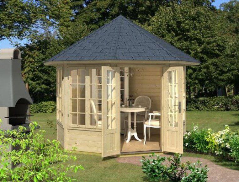 Elegant Der freundliche Gartenpavillon Louise mit Fenstern l dt zum Verweilen ein
