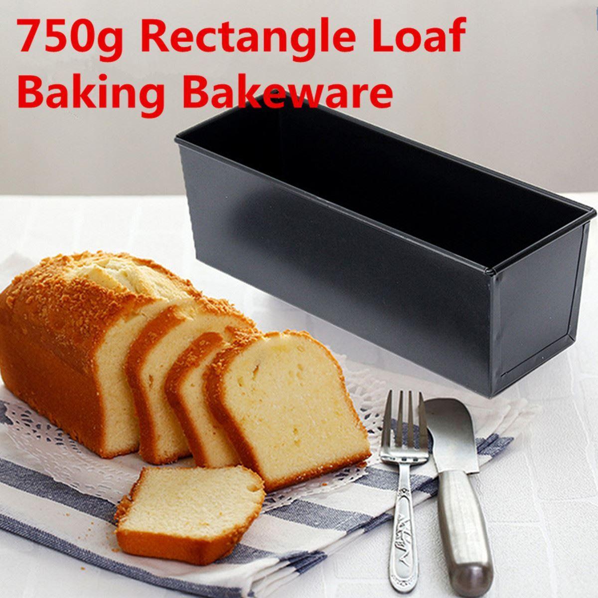 Cake Baking Pan Rectangle Nonstick Box New Large Loaf Tin Pastry