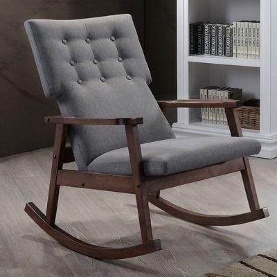 wholesale interiors baxton studio rocking chair reviews wayfair chambre b b pinterest. Black Bedroom Furniture Sets. Home Design Ideas