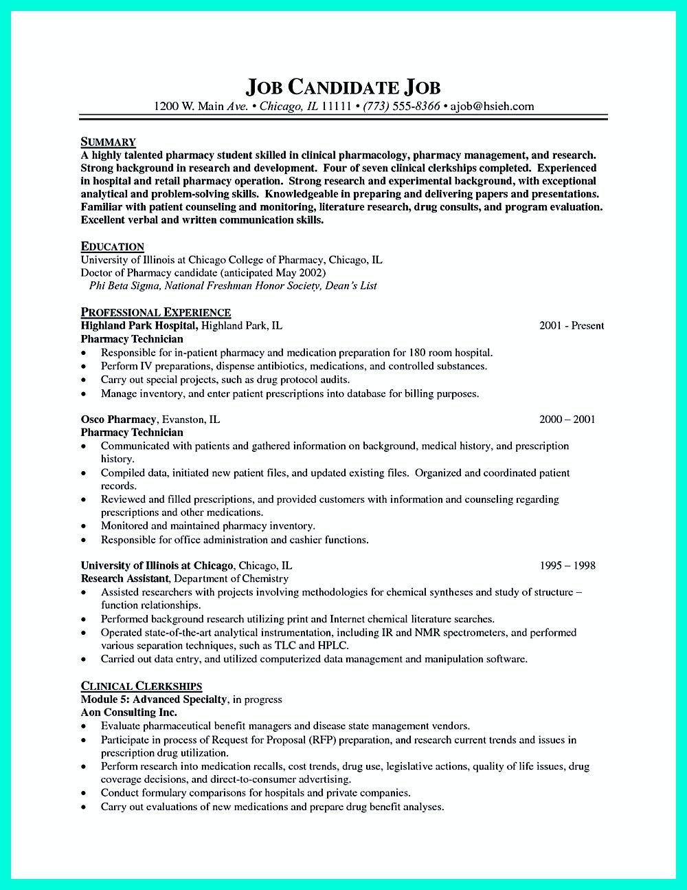 Research Technician Resume