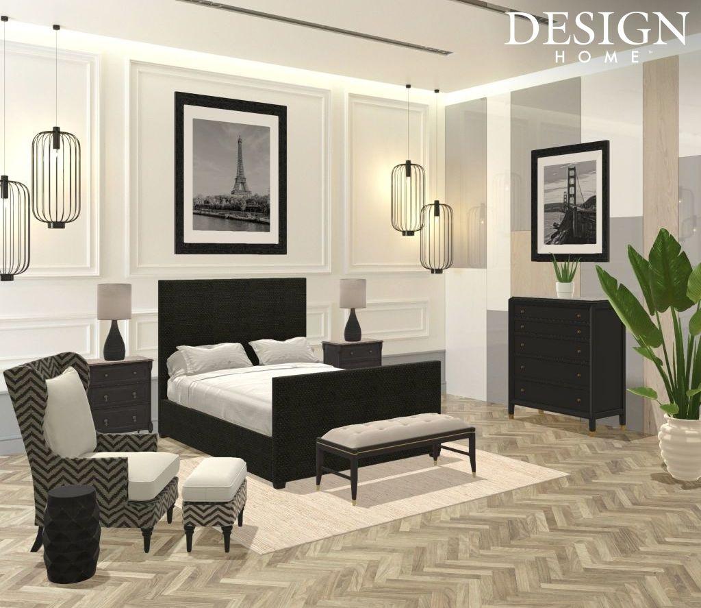 Cream, black, and grey bedroom | Home, Grey bedroom, Home ...