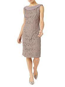 Petite Lace Cape Dress
