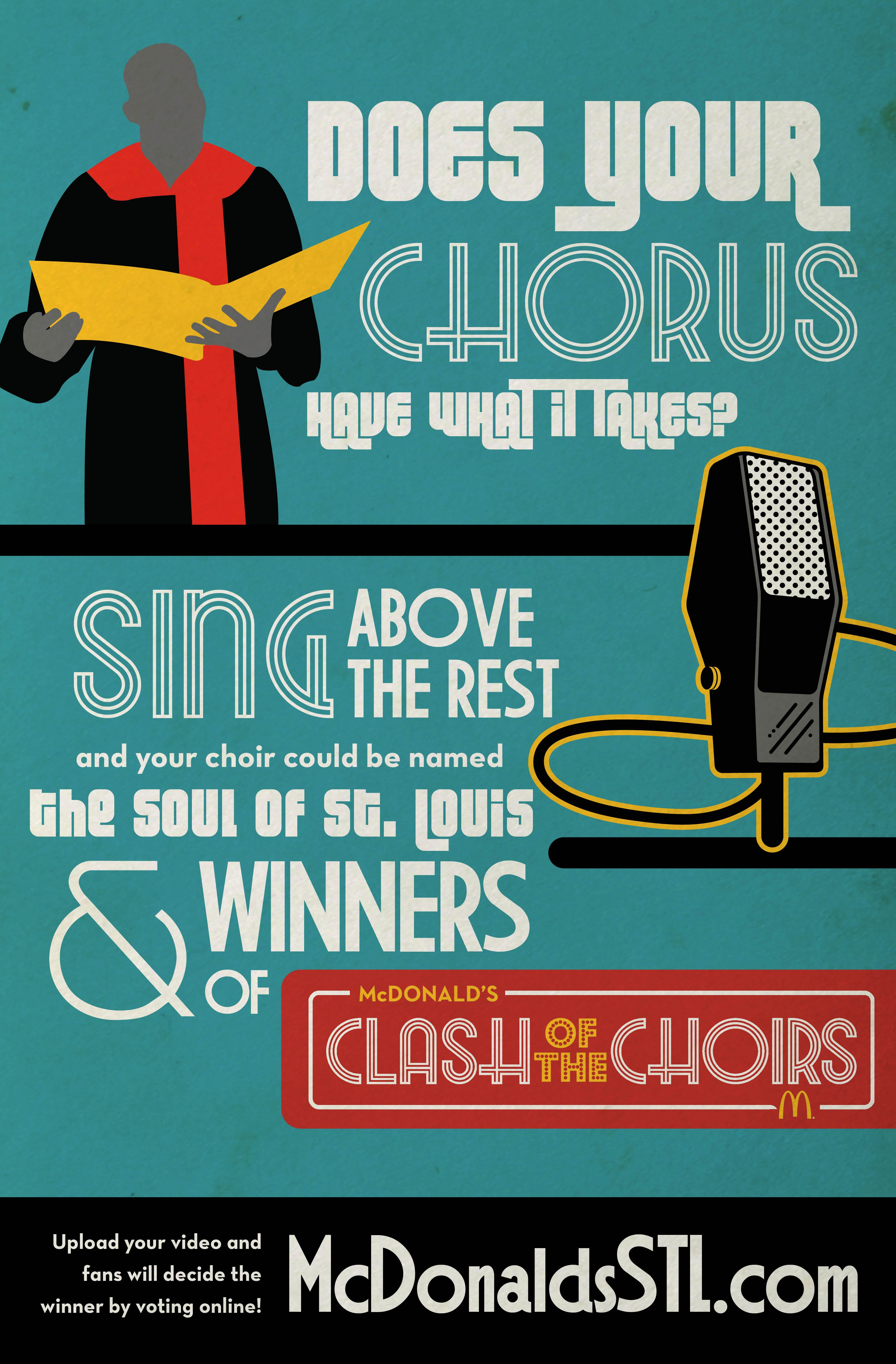 Minimalist Classroom Game ~ Mcdonald s choir contest poster classical music posters