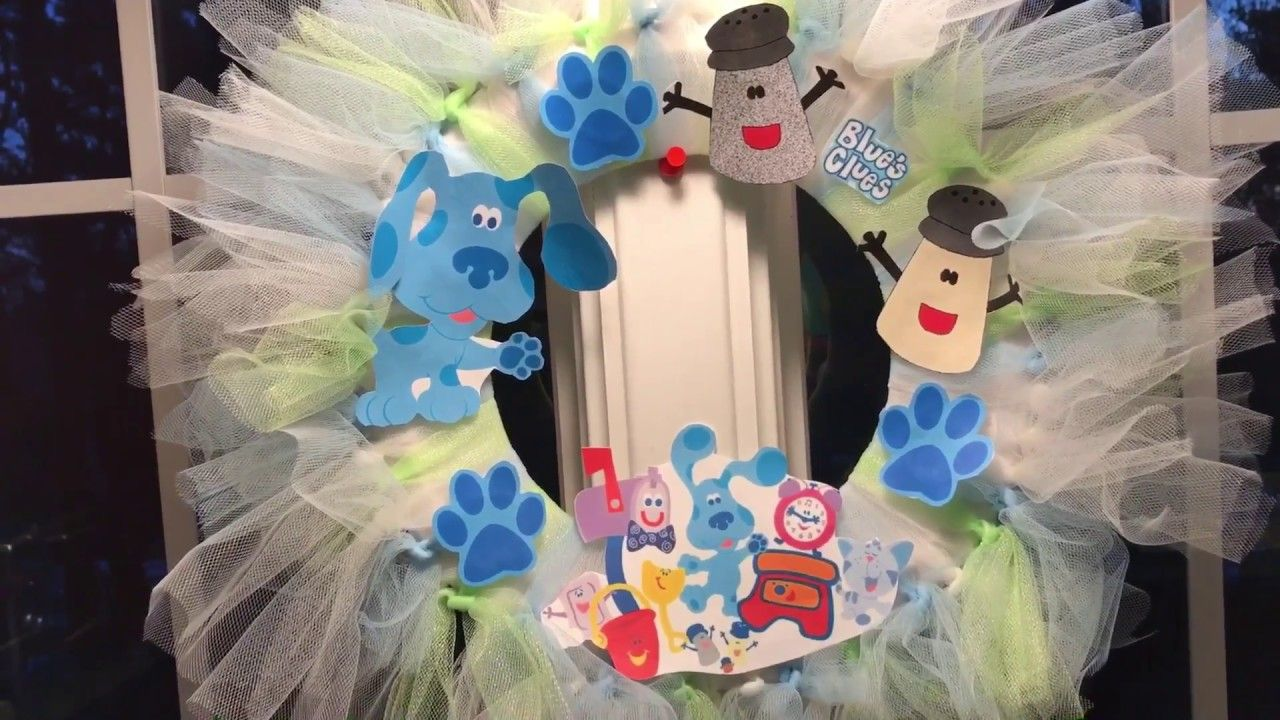 DIY Blue\'s Clues Party Wreath | Blue\'s Clues Party | Pinterest