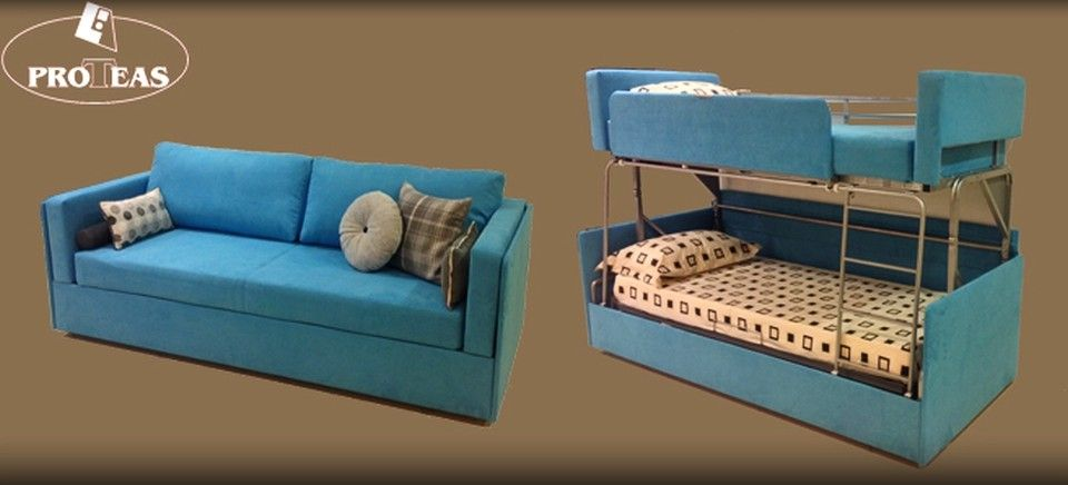 Twinny Couch Morphs Into A Bunk Bed Within Seconds Sofa Sofa Bed Folding Sofa