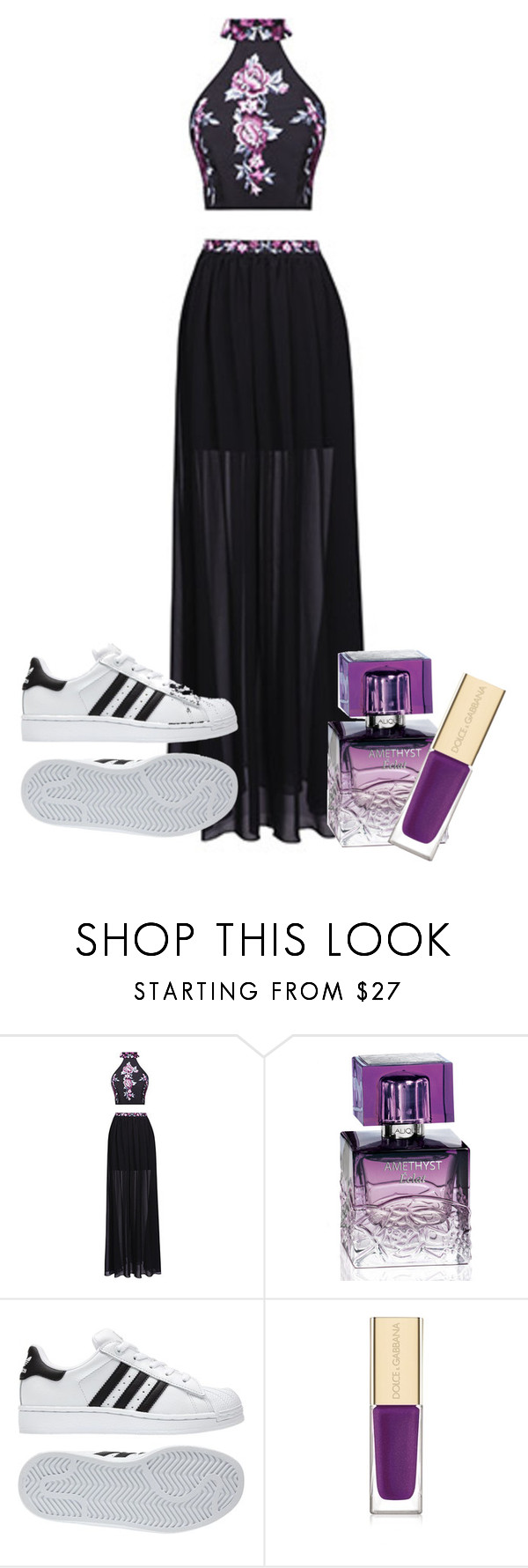 Geen titel #98 by ebru-polat-1 on Polyvore featuring mode, Fame & Partners, Lalique, Dolce&Gabbana and adidas