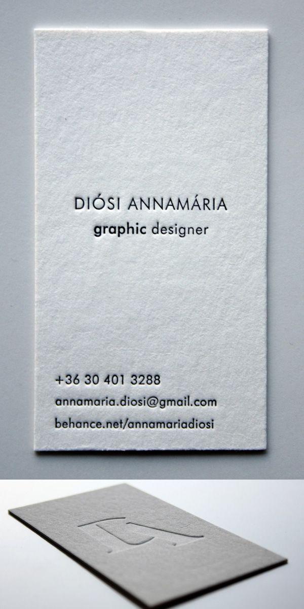 Minimal Letterpress Business Card Business Cards Design - letterpress business card