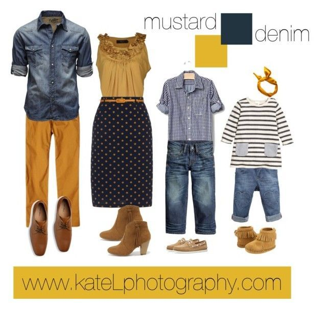 Mustard + Denim // Family Outfit #familyphotooutfits
