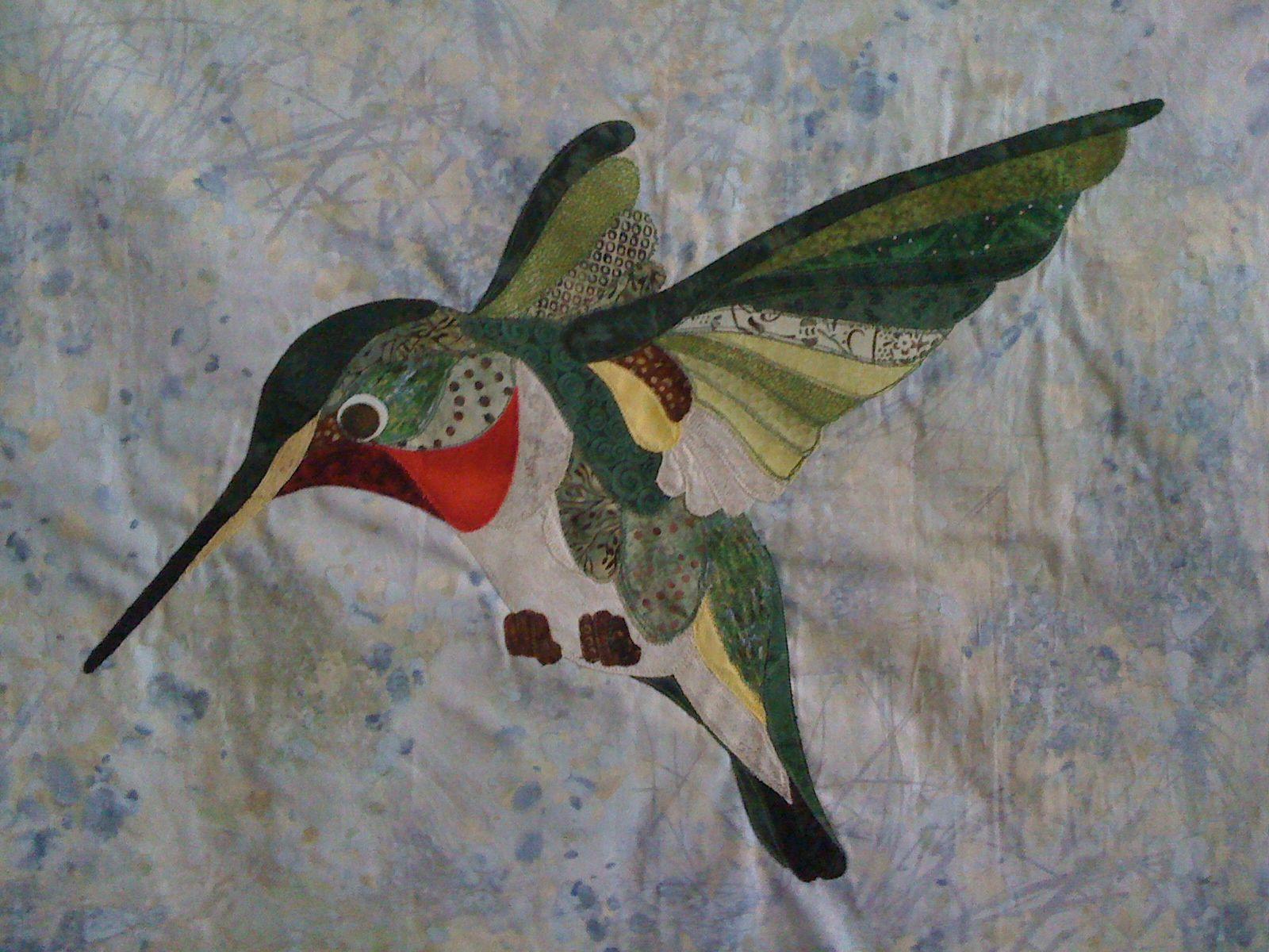 Hummingbird quilt (pattern by David Taylor)   Quilting Hand App ...