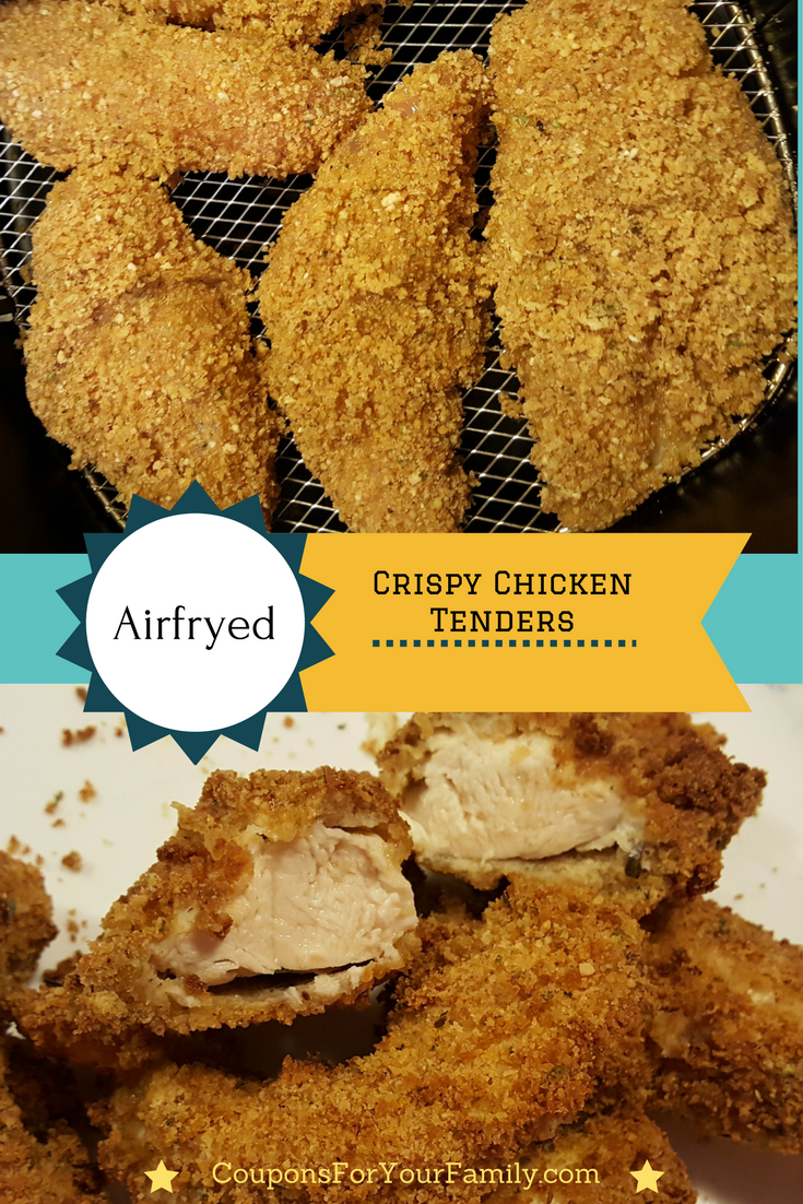 Crispy Crunchy Chicken Strips Baked In Airfryer Recipe Airfryer Recipes In 2019 Air Fryer