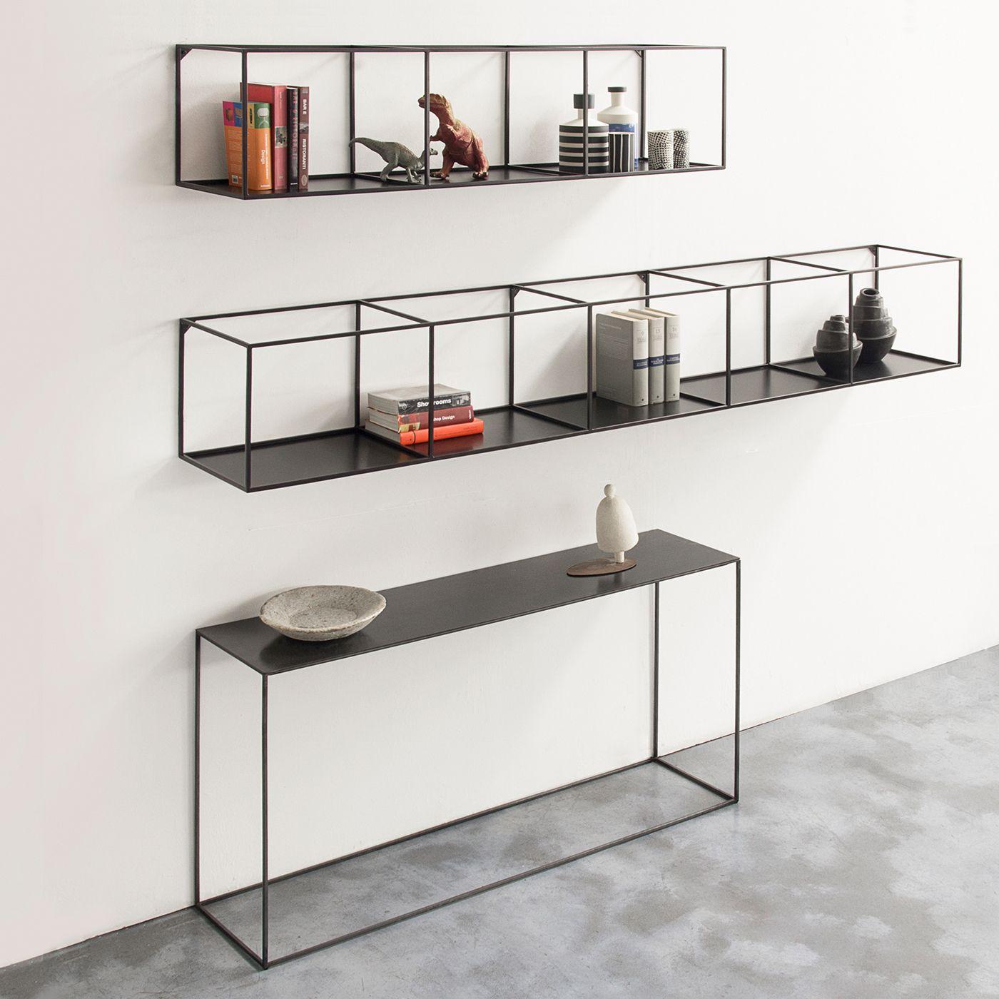 slim irony wall rack library regal metall sideboard metall regal design