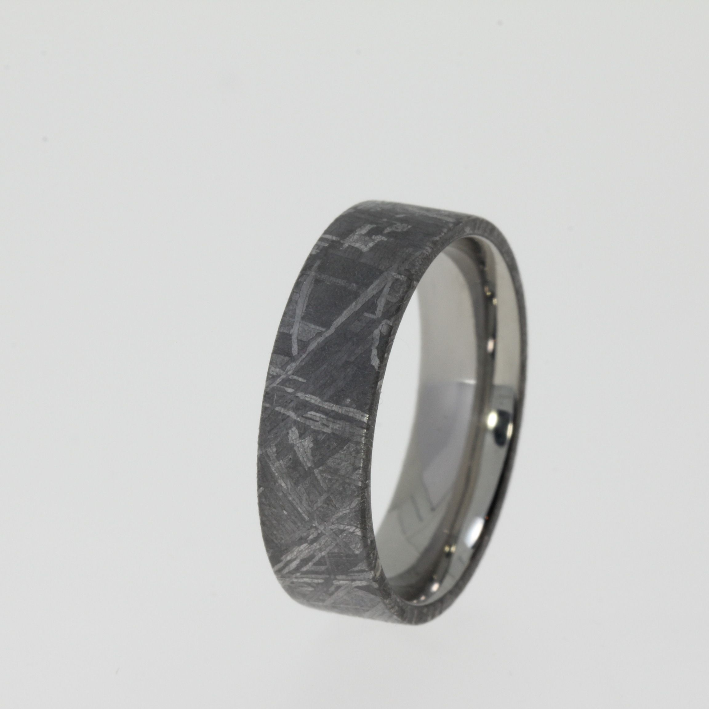 Gibeon Meteorite Ring Tungsten Band Mens Wedding Ring Gibeon