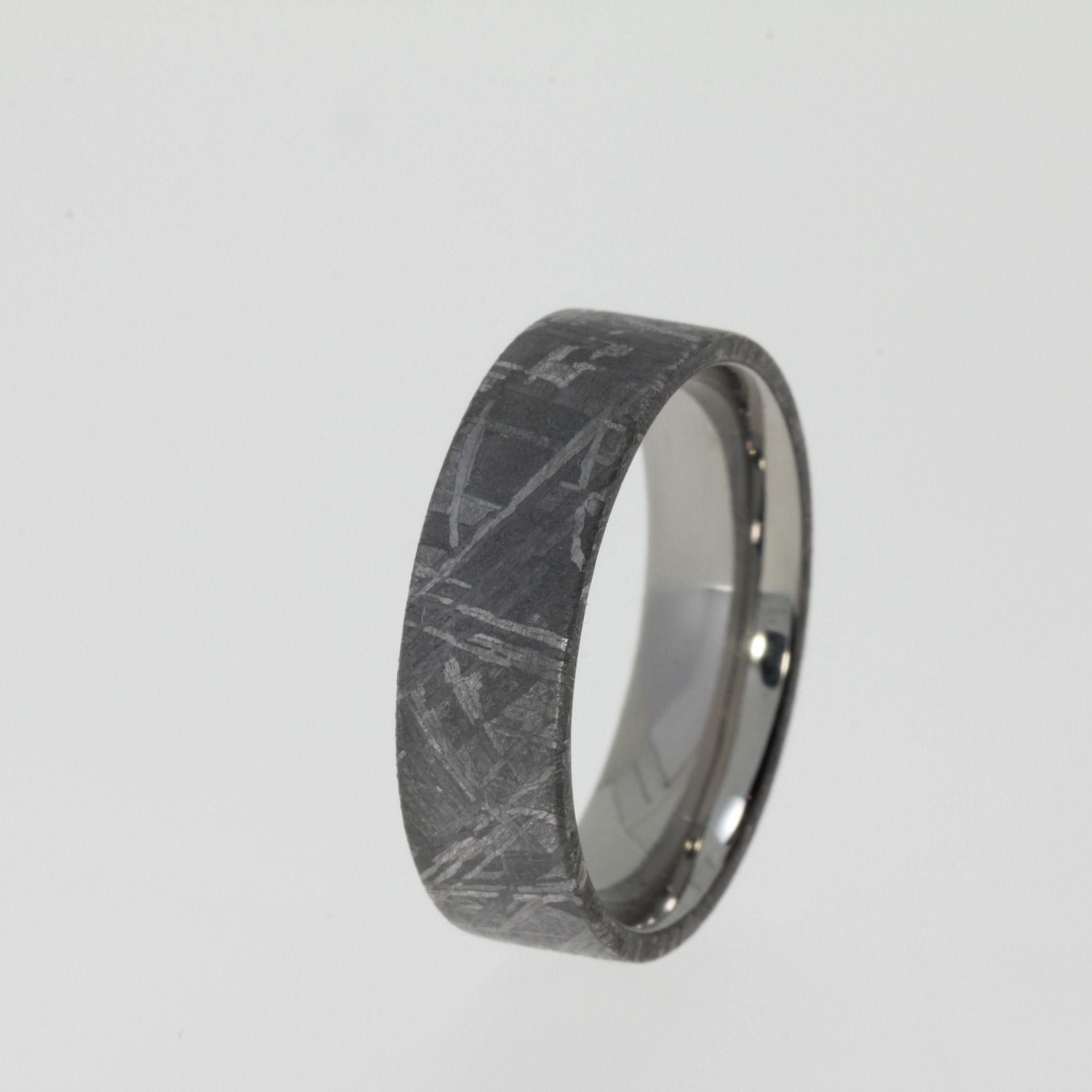 Gibeon Meteorite Ring Tungsten Band Mens Wedding Ring Ring