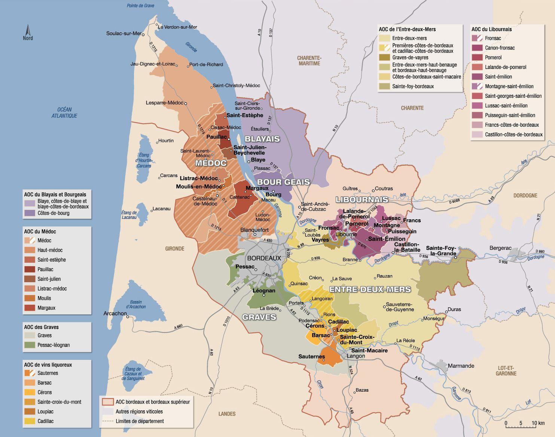 Carte Route Des Vins Bordeaux.Carte Vin Bordeaux Pb84 Jornalagora