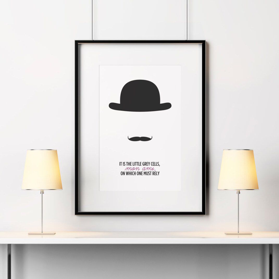 Hercule poirot quote agatha christie quote poirot poster