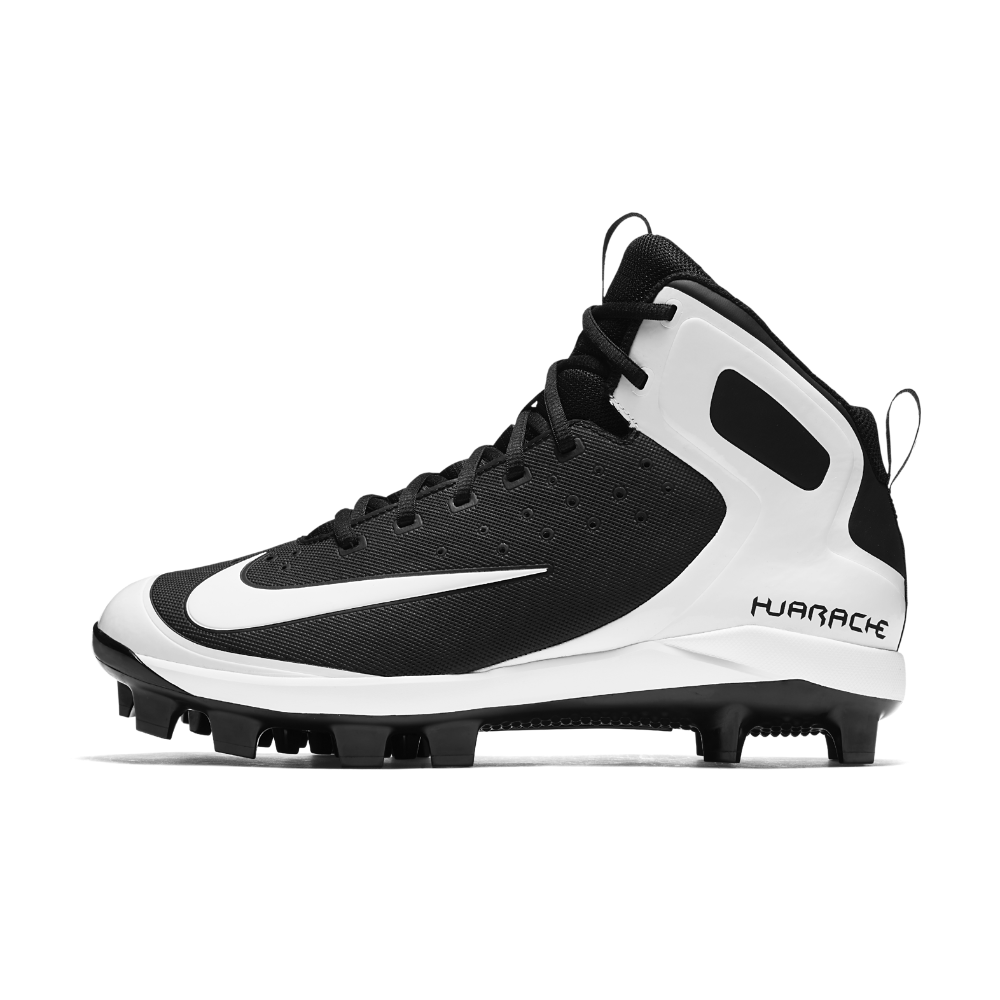 58b325b94 Nike Alpha Huarache Pro Mid MCS Men s Baseball Cleats Size 12.5 (Black)