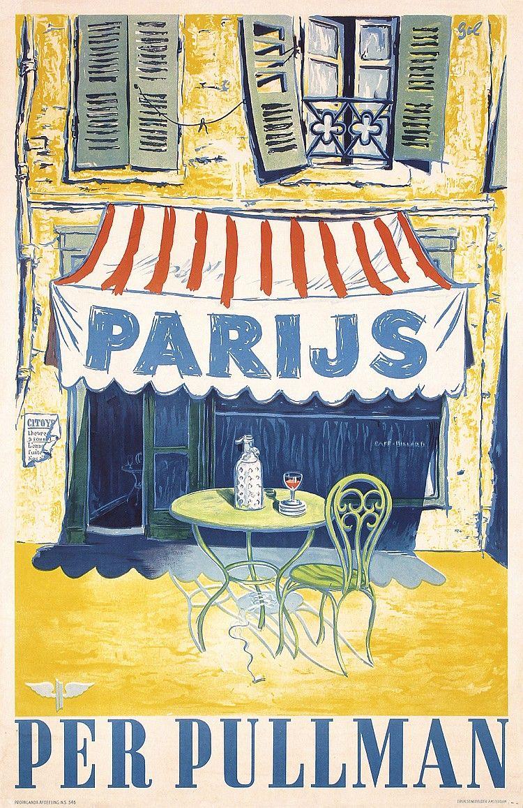 Printemps en France paris vintage french travel bureau poster 16x24