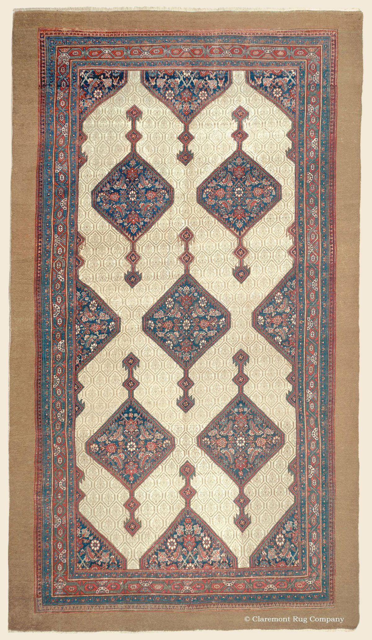 Serab Camelhair Northwest Persian Antique Late 19th Century Rug 6ft 10in X 12ft 10in Claremont Rug Company Claremont Rug Company Rugs Rugs On Carpet