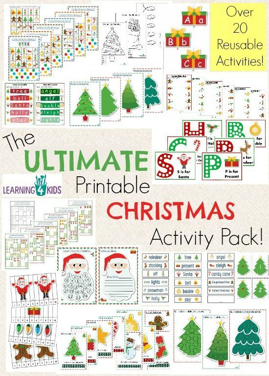 the ultimate christmas printable activity pack template