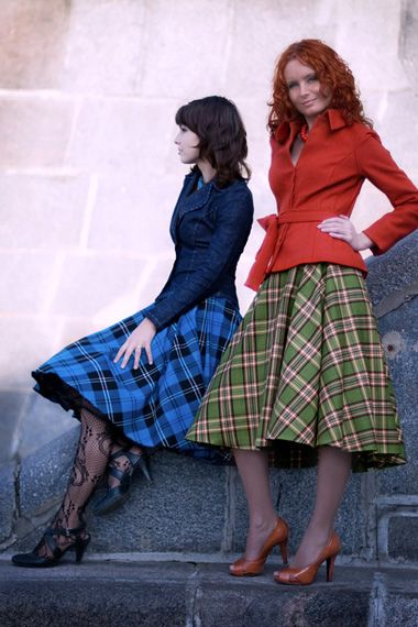 Plaid full skirts - yes please!