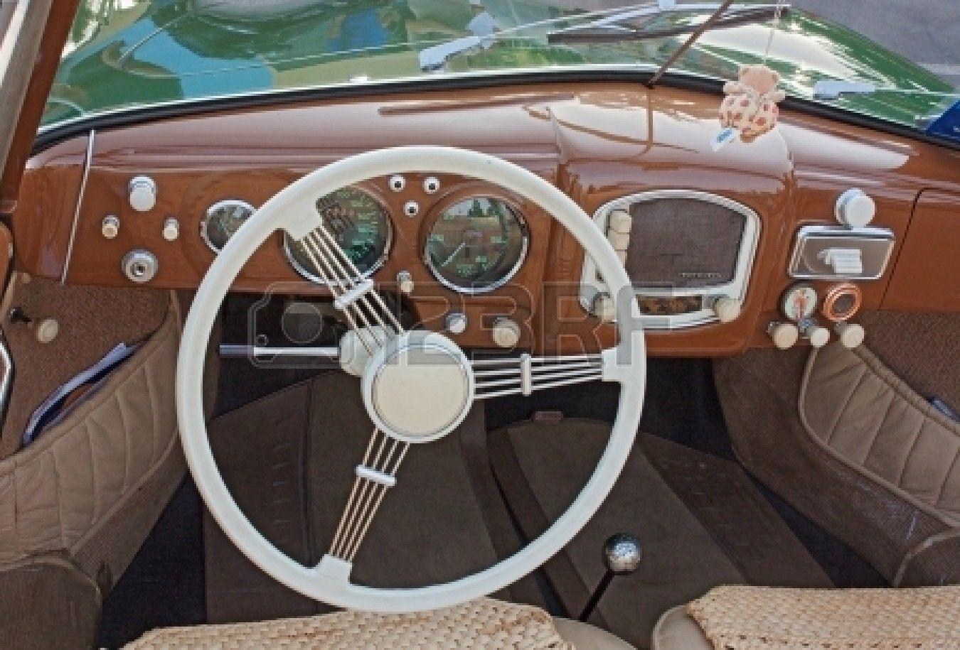 old car dashboard design - Google Search   Vintage Dashboard ...