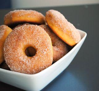 Spiced Sweet Potato Donuts  *I used 1 T. Stevia instead of white sugar.