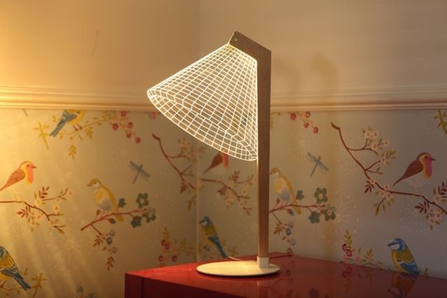 Your Brain Probably Thinks These Lamps Are 3d The Creators Project 3d Led Lamp Lamp 3d Optical Illusions