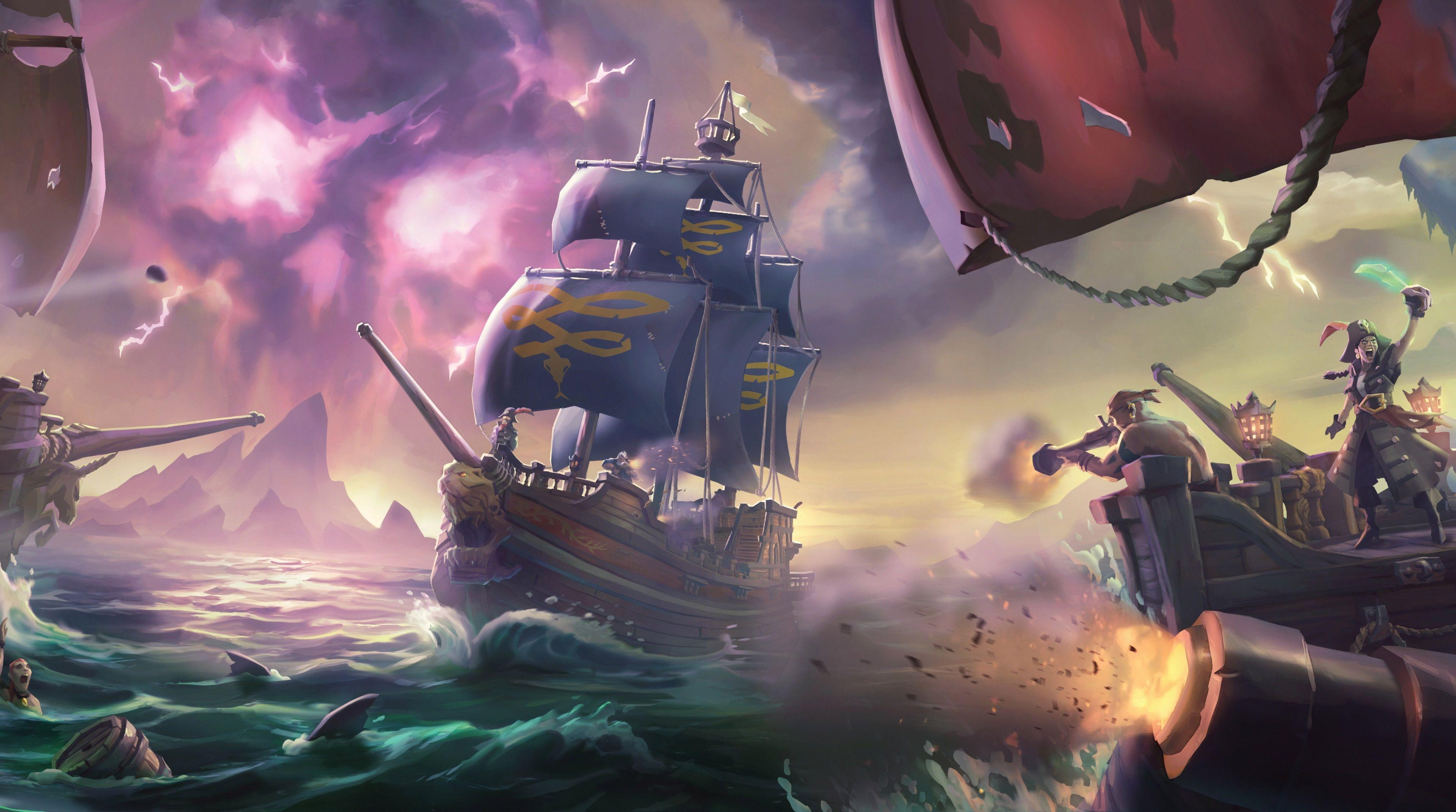 3840x2142 sea of thieves 4k background wallpaper free | sea