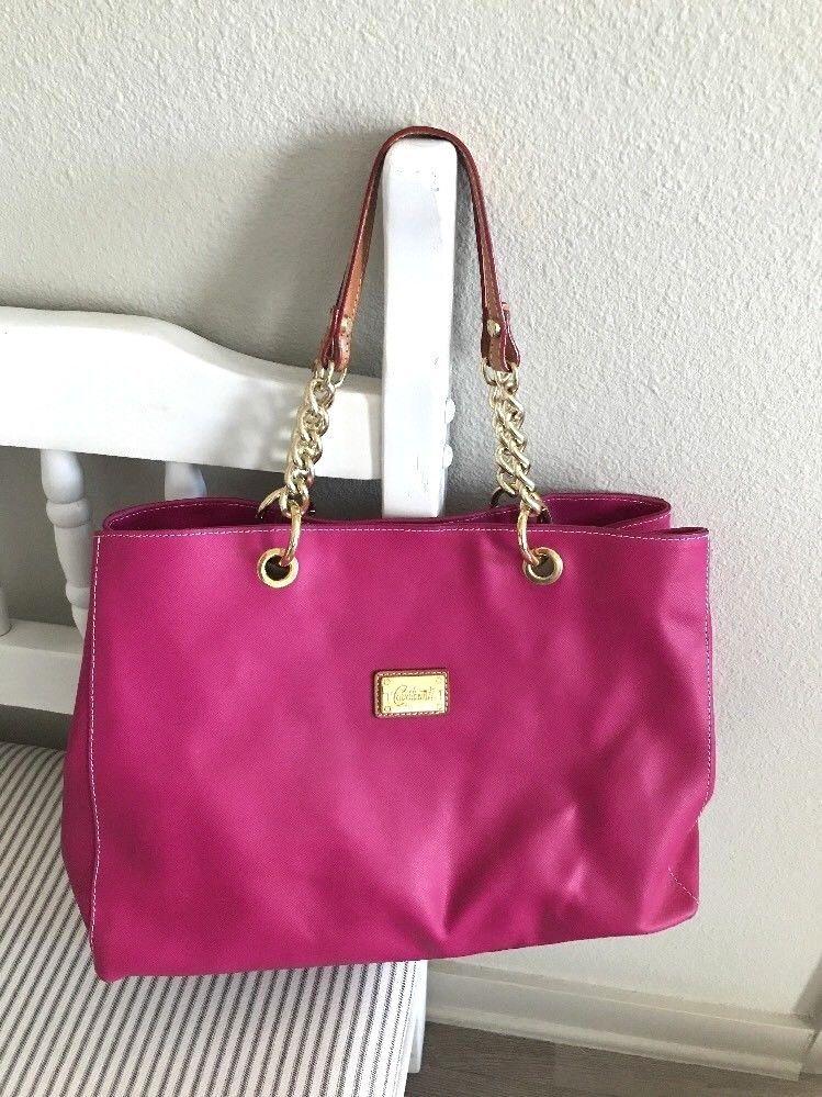 Cavalcanti Genuine Leather Large Handbag Shoulder Bag Pink Made In Italy Shoulderbag
