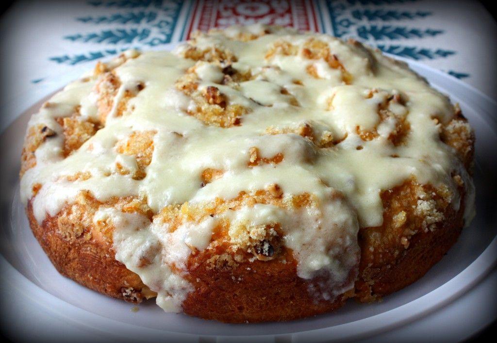 Cake Recipes With Glaze Icing: Orange Coffee Cake With Orange Cream Cheese Icing Glaze