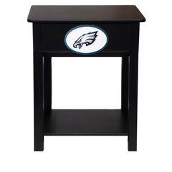 Philadelphia Eagles Black Nightstand Side Table Furniture