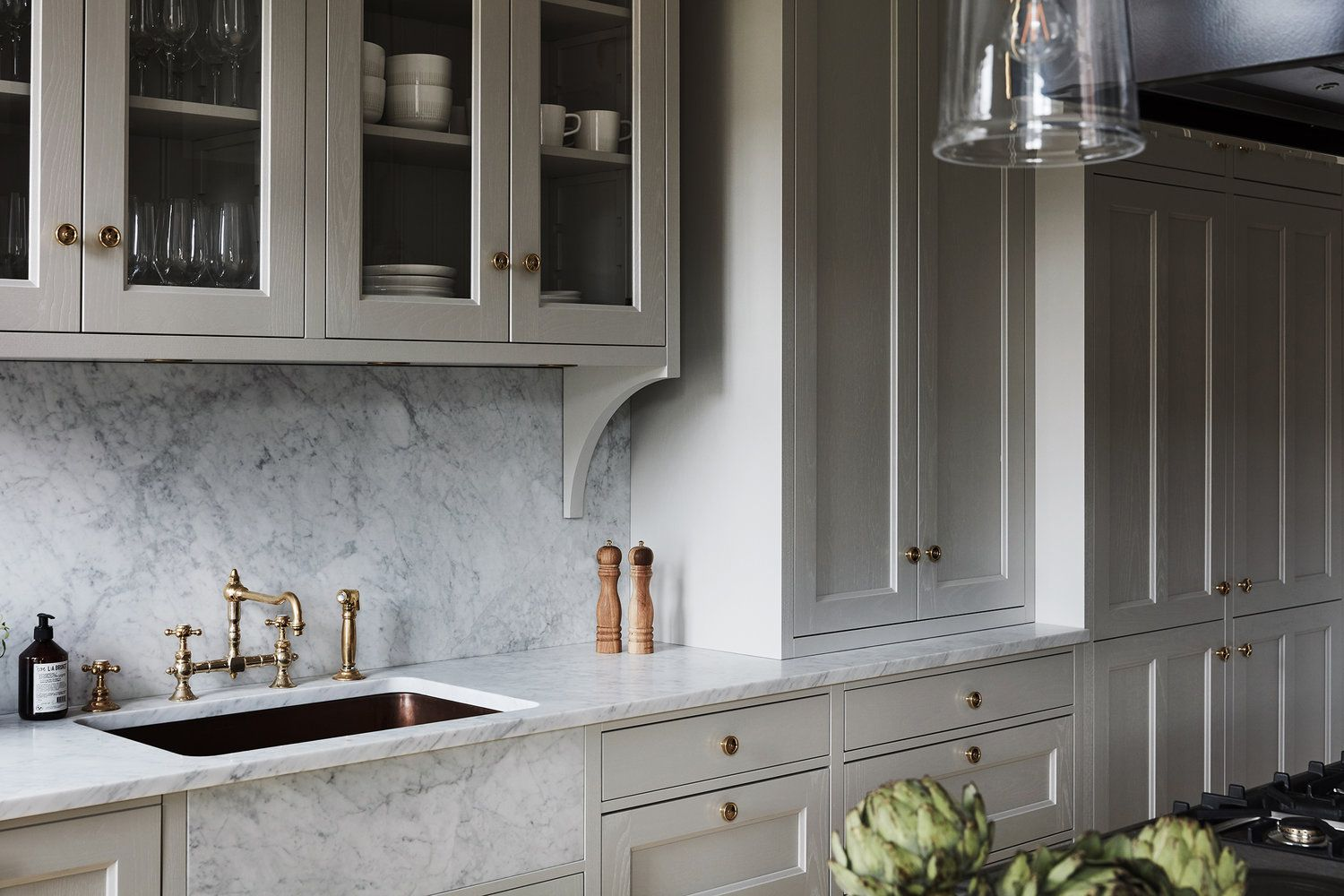8 Great Neutral Cabinet Colors For Kitchens The Grit And Polish In 2020 Kitchen Style Kitchen Renovation Neutral Cabinets