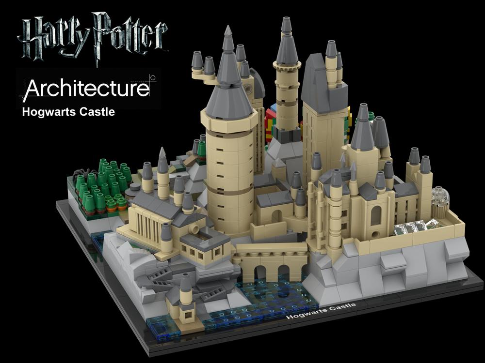 Hօgwarts Castle Architecture Lego Hogwarts Micro Lego Lego Harry Potter Moc