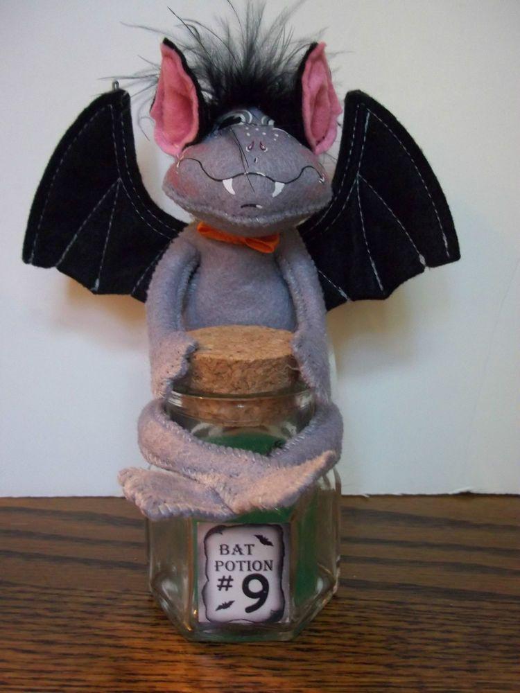 AnnaLee Mobilitee Doll Vintage Halloween Magic Potion Bat