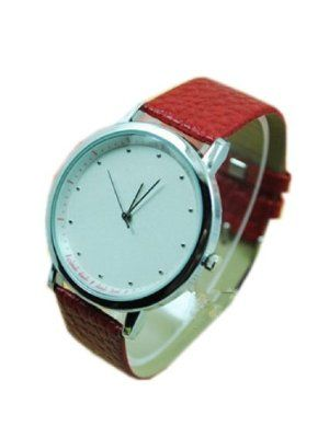 JMT New Fashion Simplicity Quartz Leather Women Ladies Wrist Watch by JMT. $8.33. New Fashion Simplicity Quartz Leather Women Ladies Wrist Watch. New Fashion Simplicity Quartz Leather Women Ladies Wrist Watch Type : Wrist Watch For : Women  Strap material :Imitation leather (it might be not durable enough,if you really care this,please choose other watches in our store,thanks.) Color: Red
