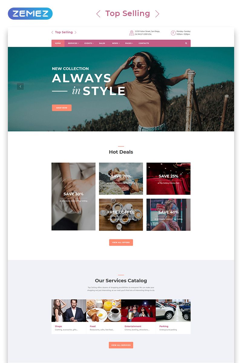Fashion Store Multipage Html5 Template Selling Fashion Fashion Store Html5 Templates