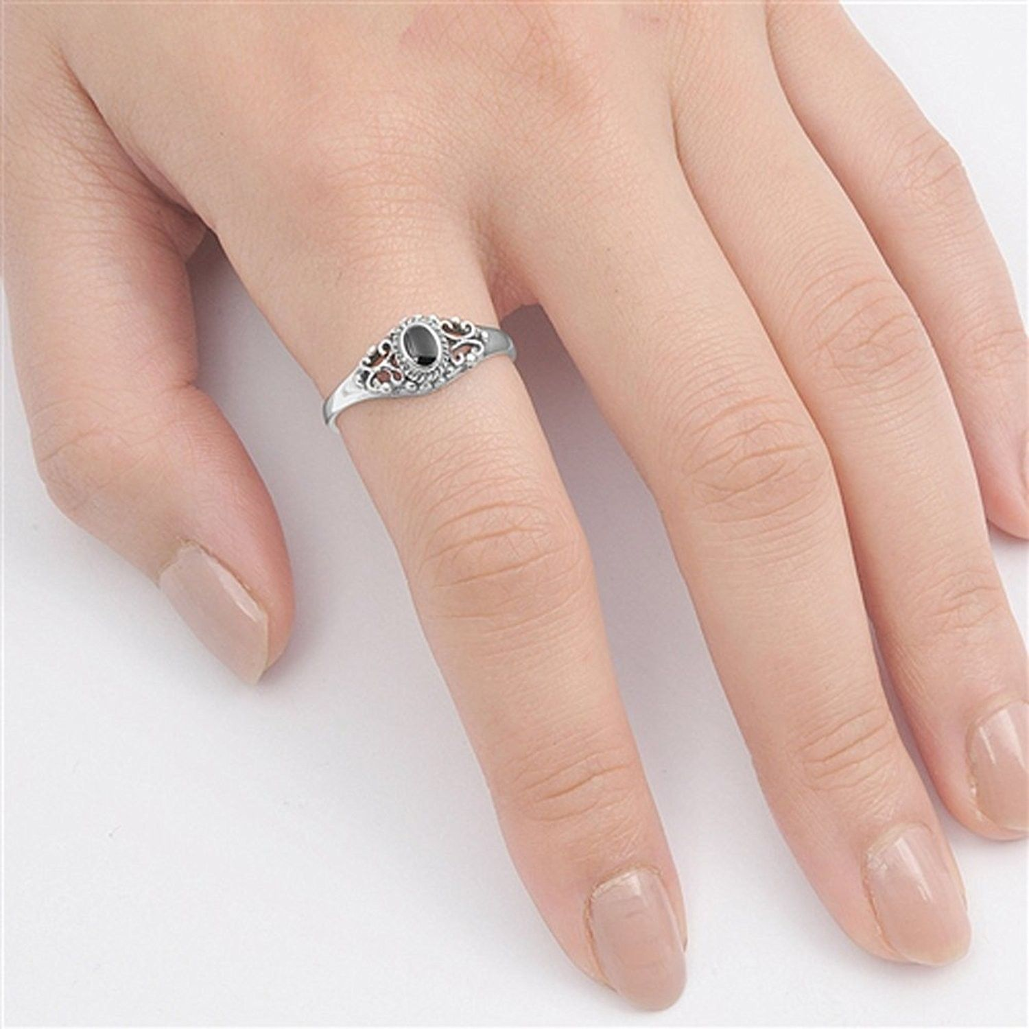 5 Stones CZ Ring Sterling Silver 925 Best Deal Jewelry Gift USA Seller Size 10