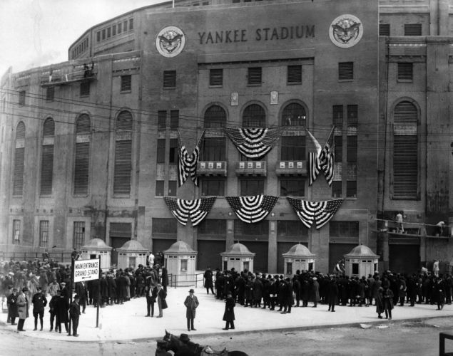 5aee87f3cd92a Yankee Stadium on opening day in 1923.