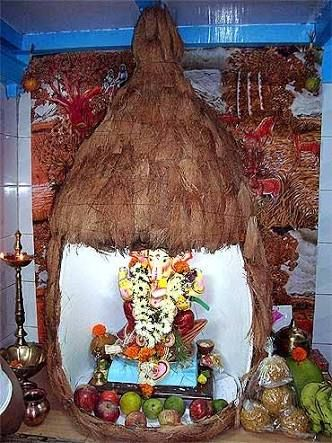 Image Result For Ganpati Decoration Ideas For Home With Lights Decoration For Ganpati Background Decoration Ganesh Chaturthi Decoration