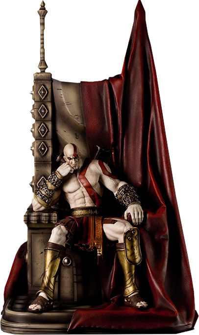 God Of War Kratos On Throne Statue By Gaming Heads Kratos God Of War God Of War War