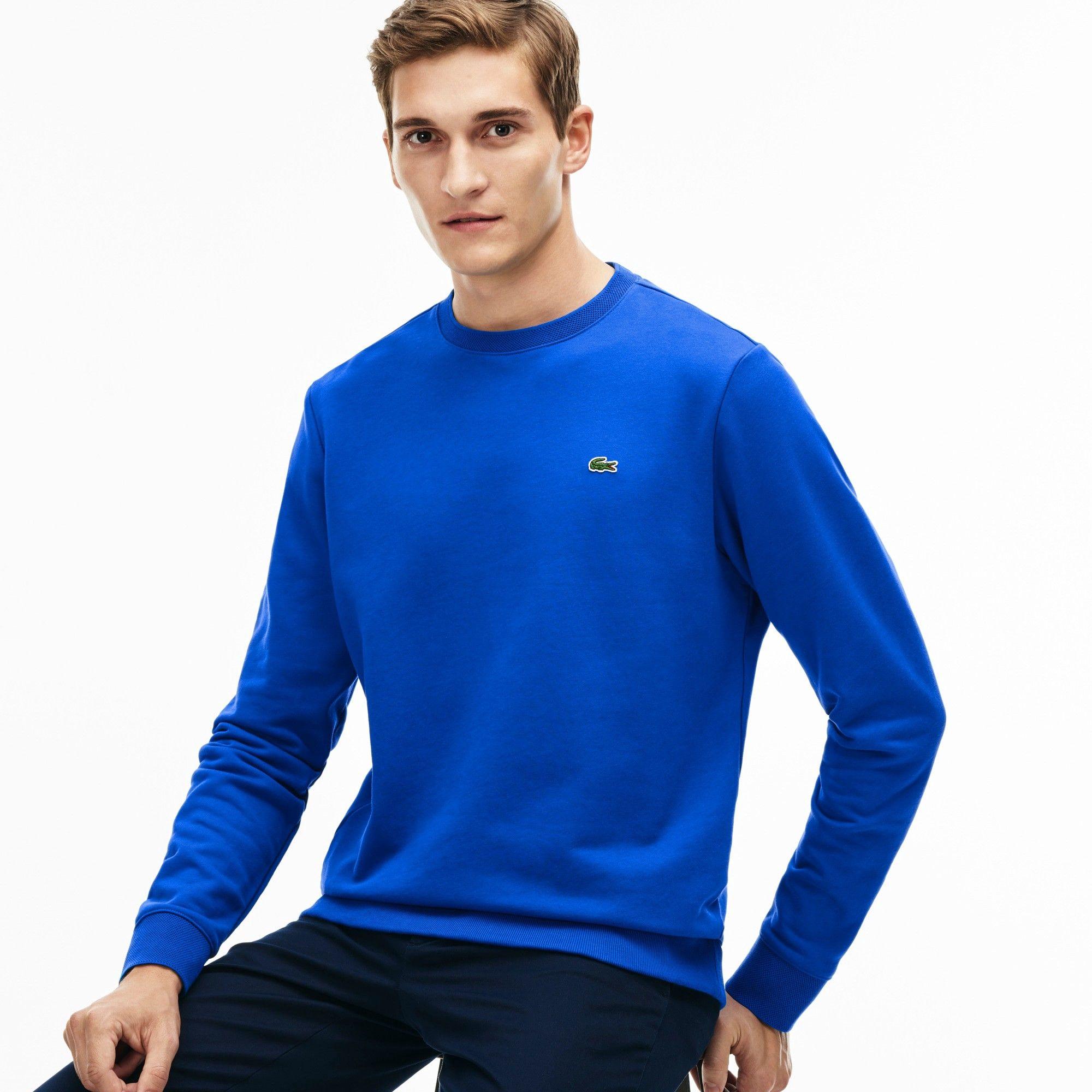 06907f999 LACOSTE Men s Fleece Sweatshirt - sapphire blue.  lacoste  cloth ...