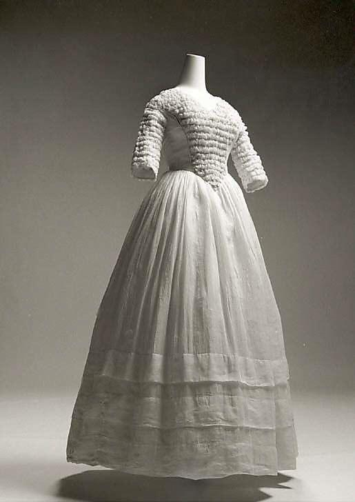Dress: 1841-44, American, cotton.