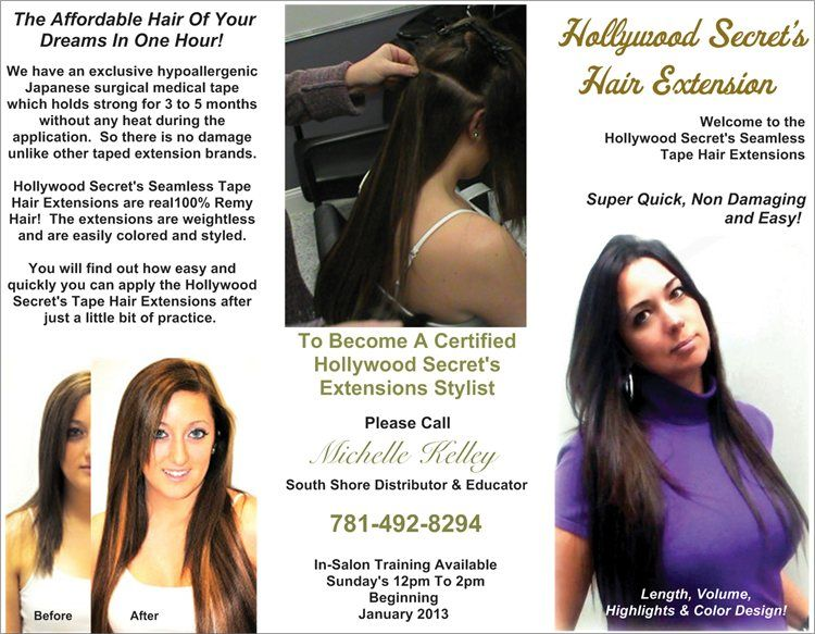 Hollywood Secrets Seamlesstaped Hair Extension Education At Salon