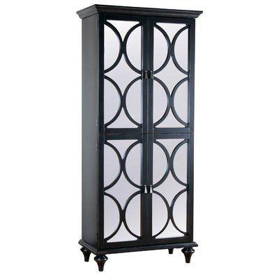 willa arlo interiors ingram tall mirrored wine bar cabinet