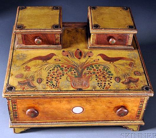 Fancy Paint-decorated Lady's Sewing Box.