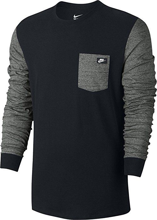 b568a20af1d4 Nike mens TEE-SHOEBOX LS 806743-010 S - BLACK TUMBLED GREY