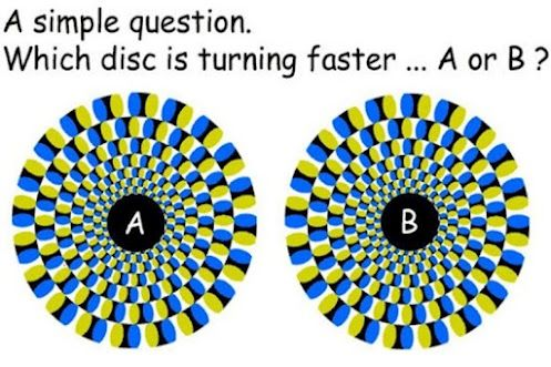 Which disc is turning faster? A or B