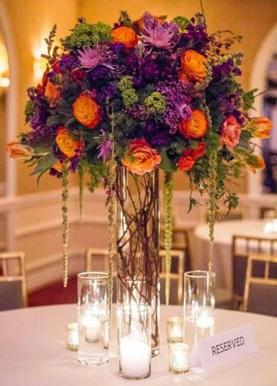 Pin By Karin Burlingame On Flowers Purple Wedding Centerpieces