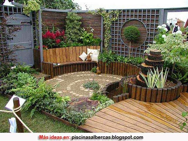 Dise o de jardines peque os huertos pinterest - Patios jardines pequenos ...